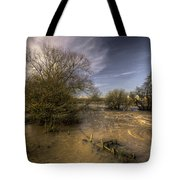 The Floods At Stoke Canon  Tote Bag