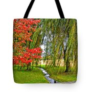 The Flow Of Autumn Tote Bag