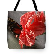 The Flower And The Butterfly Tote Bag