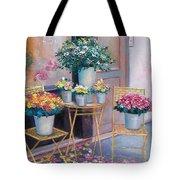 The Flower Shop Paris Tote Bag