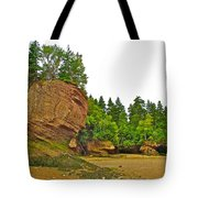 The Flowerpots At Hopewell Rocks On Bay Of Fundy-new Brunswick Tote Bag