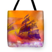 The Flying Dutchman Ghost Ship Tote Bag