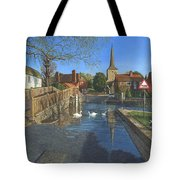 The Ford At Eynsford Kent Tote Bag