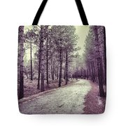 The Forest Road Retro Tote Bag