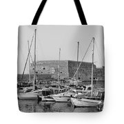 The Fortress And The Port In Iraklio City Tote Bag