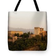 The Fortress On The Hill Tote Bag by Mountain Dreams