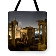The Forum Temples At Night Tote Bag