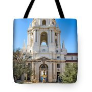The Fountain - The Beautiful Pasadena City Hall. Tote Bag