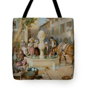 The Fountain At Toulon Tote Bag