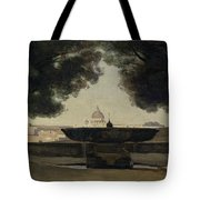 The Fountain Of The French Academy In Rome, 1826-27 Oil On Canvas Tote Bag