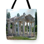 The Four Roman Columns Of The Ceremonial Gateway  Tote Bag