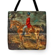 The Fox Hunt With Light Antique Store Mural Griffin Georgia Art Tote Bag