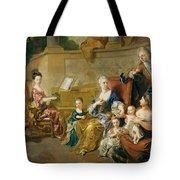 The Franqueville Family, 1711 Oil On Canvas Tote Bag