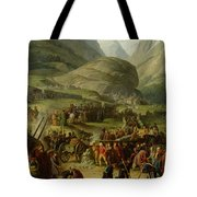 The French Army Travelling Over The St. Bernard Pass At Bourg St. Pierre, 20th May 1800, 1806 Oil Tote Bag