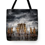 The Friendship Fountain Moscow Tote Bag