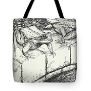 The Frogs And The Well Tote Bag