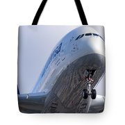 The Front Office Lufthansa Airbus A-380 Tote Bag