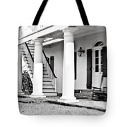 The Front Porch - Bw Tote Bag