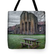 The Frosty Bench Tote Bag