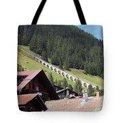 The Funicular In Murren Tote Bag