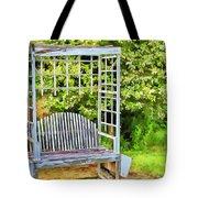 The Garden Bench In Spring  Tote Bag