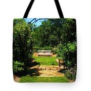 The Garden Bench Tote Bag