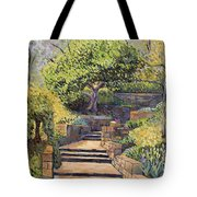The Garden Stairs Tote Bag
