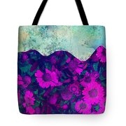The Garden Wall Abstract Art Tote Bag