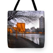 The Gates - Central Park New York - Harlem Meer Tote Bag by Gary Heller