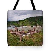 The Geese Of St Goar Am Rhein Tote Bag