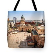 The Gendarmenmarkt And German Cathedral In Berlin Tote Bag