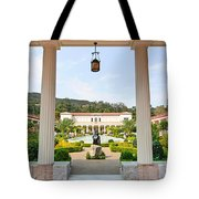 The Getty Villa Main Courtyard View From Covered Walkway. Tote Bag