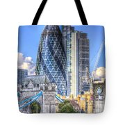 The Gherkin And Tower Bridge Tote Bag