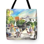 The Ghost Of Don Quijote In Alcazar De San Juan Tote Bag