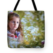 The Girl And The Butterfly Tote Bag