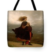 The Girl I Left Behind Me Tote Bag