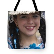 The Girl With The Panama Hat Tote Bag