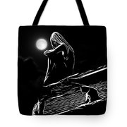 The Girl On The Roof Tote Bag