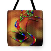 The Girl With Kaleidoscope Lines Tote Bag