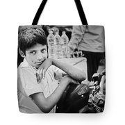 The Glow In His Eyes Tote Bag