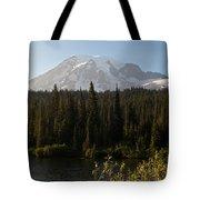 The Glow Of Mount Rainier Tote Bag
