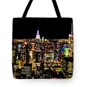 The Glow Of The New York City Skyline Tote Bag