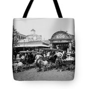 The Goat Carriages Coney Island 1900 Tote Bag