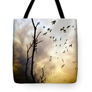 The Gods Laugh When The Winter Crows Fly Tote Bag by Bob Orsillo