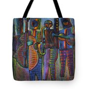 The Gods Of Music Come To New York Tote Bag