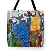 The Golden Macaw Tote Bag