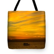 The Golden Sky That Mesmerize  Tote Bag