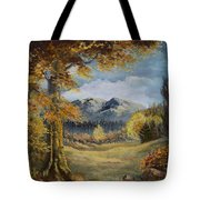 The Golden View Tote Bag