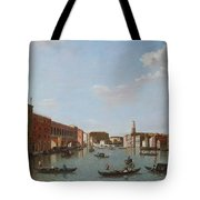 The Grand Canal And San Geremia, Venice, 18th Century Tote Bag