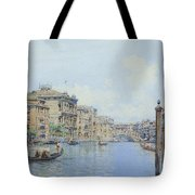 The Grand Canal With A View Of Palace Tote Bag
